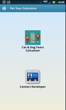 Pet Years Calculator poster