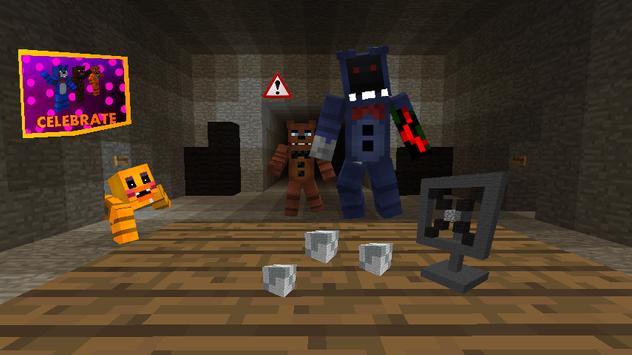 Skin FNAF for Minecraft poster