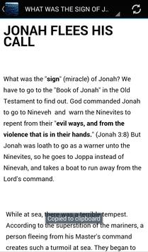 What was the Sign of Jonah? apk screenshot