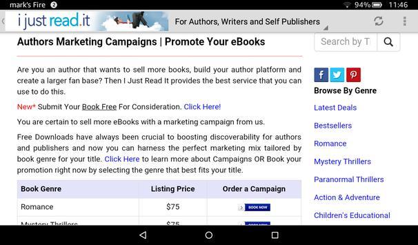I Just Read It - Free eBooks apk screenshot