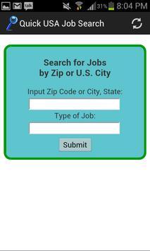 Quick Job Search USA poster