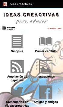 Ideas creActivas para educar poster