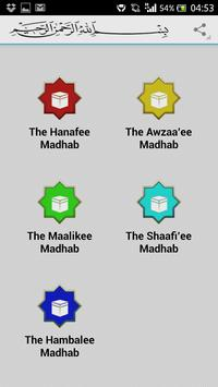 Islamic Madhabs poster