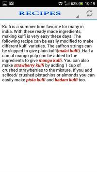 Kulfi Ice Cream Recipe apk screenshot
