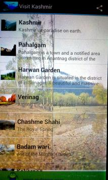 Visit Kashmir apk screenshot