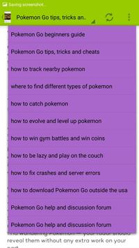 Tricks for pokemon Go apk screenshot