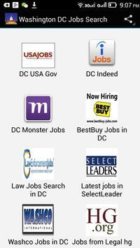 Washington Jobs Search poster