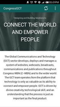 The CongressGCT App poster