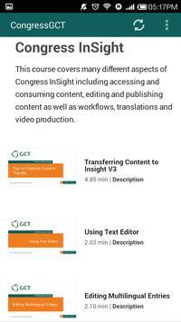 The CongressGCT App apk screenshot