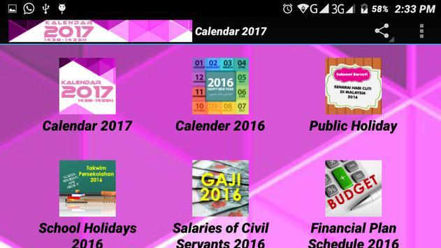 Calendar 2017 apk screenshot