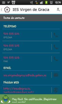 IES Virgen de Gracia APP apk screenshot