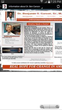Ben Carson for President 2016 apk screenshot