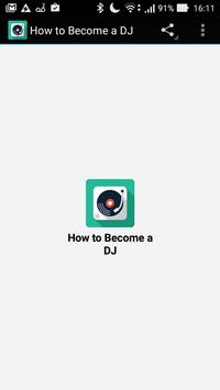 How to Become a DJ poster