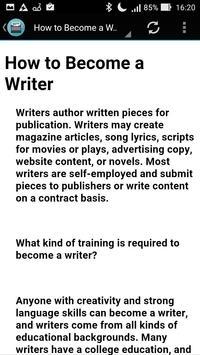 How to Become a Writer apk screenshot