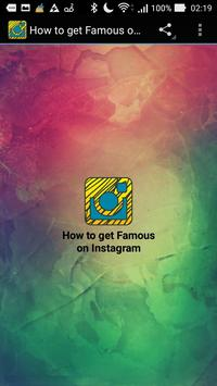 How to get Famous on Instagram poster