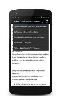 Job Interview Questions Answer apk screenshot