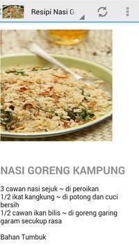 Resepi Nasi Goreng apk screenshot