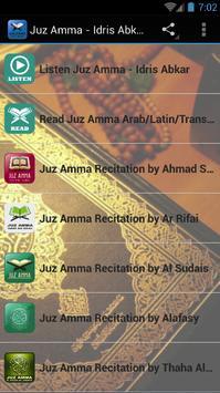 Idris Abkar - Juz Amma MP3 poster