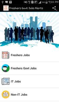 Freshers Govt Jobs Alerts poster