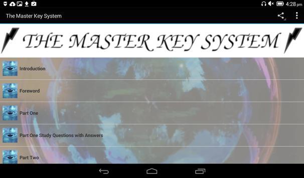 The Master Key System apk screenshot