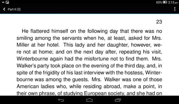 Daisy Miller by Henry James apk screenshot