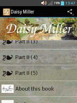 Daisy Miller by Henry James poster