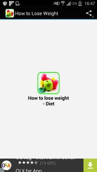 How to Lose Weight poster