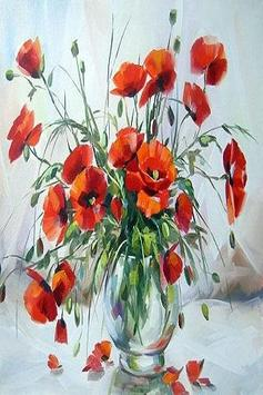 Painted poppies poster