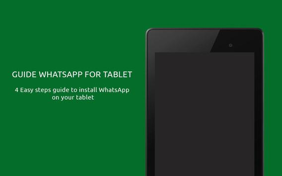 Guide WhatsApp for Tablet poster