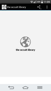 the occult library poster
