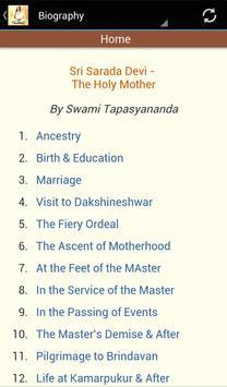 Sarada Devi Complete App apk screenshot