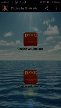 Choice by Sheik Ahmed Deedat poster