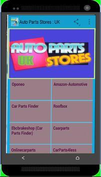 Auto Parts Stores : UK poster