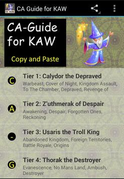 CA Guide for Kingdoms at War poster