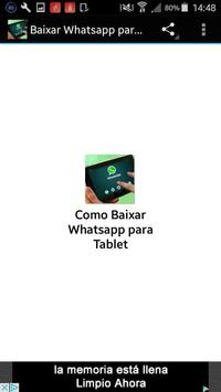 Install Whatsapp for Tablet poster