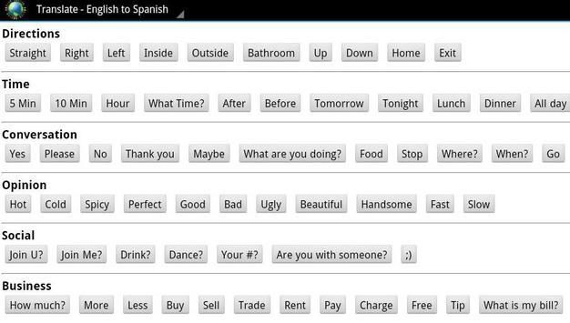 Translate - English/Spanish apk screenshot
