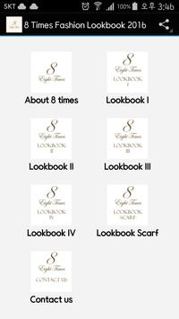 8 Times Fashion Lookbook 2016 poster