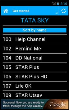 DTH Television Guide India apk screenshot