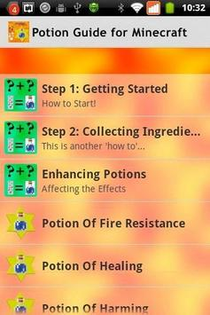 Potion Guide for Minecraft poster