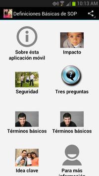 Definiciones básicas de SOP poster