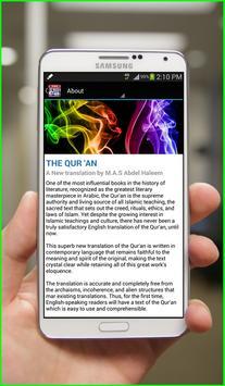 Abdel Haleem English Quran apk screenshot