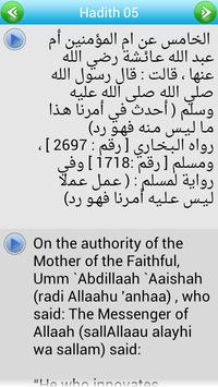 Arbain Nawawiyah Arabic + Eng apk screenshot