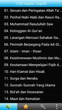 1100 Hadith Terpilih (Malay) poster