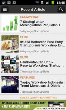 StartupBisnis apk screenshot