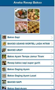 Aneka Resep Bakso apk screenshot