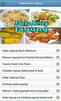 Aneka Resep Jagung apk screenshot