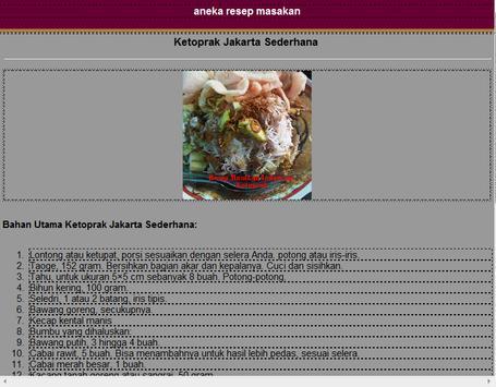 aneka resep masakan apk screenshot