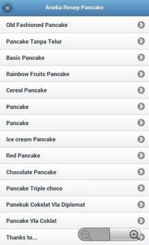 Aneka Resep Pancake apk screenshot