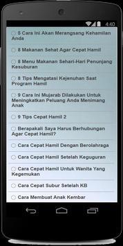 Cara cepat hamil apk screenshot
