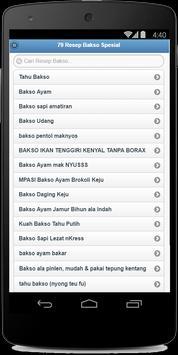 79 Resep Bakso Spesial apk screenshot